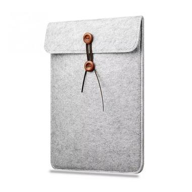 harga Bag Zone Sleeve Case Button Felt Slim Laptop Softcase [14 Inch] Blibli.com