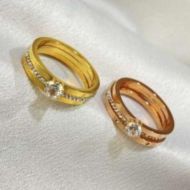 harga Cincin Triple Ring Titanium Wanita CNT-036 8 Blibli.com
