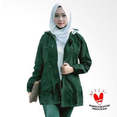 Fashion Jaket Parka Wanita Topi Lepas - Hijau Army dd86ef07cd