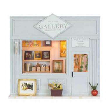 A1Toys DIY Miniature House Toko Lukisan Plus Lampu LED G