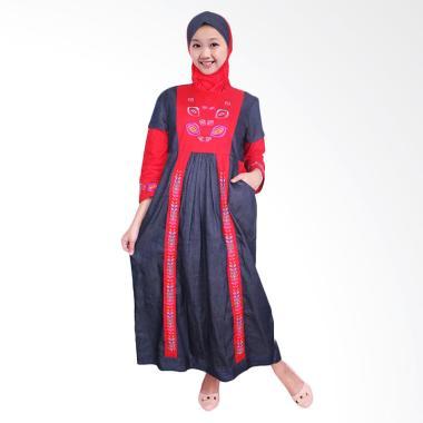 FAYRANY FGD-003A Busana Muslim Gamis Denim Anak - Merah