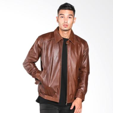 KALONG JKD 010 Mens Lamb Skin Waisted Leather Rib Jaket Pria