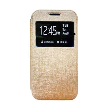 Zagbox Flip Cover Casing for Oppo R9s Plus - Gold