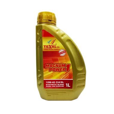 Texal Magnum Power 1 10W 40 Synthetic Blend Oli Liter