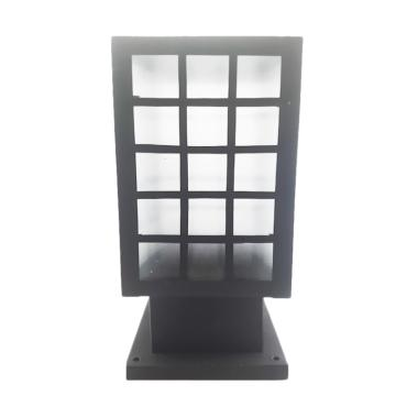 Best Lighting Taman P14 BK Lampu Pilar Minimalis - Hitam