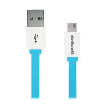 Delcell Zaxti 6th Generation Micro USB Cable - Biru [1 m]