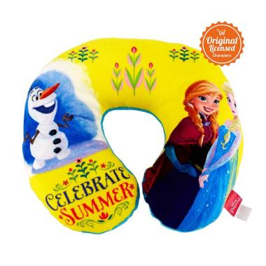 Disney Frozen Neck Cushion Bantal Leher - Yellow