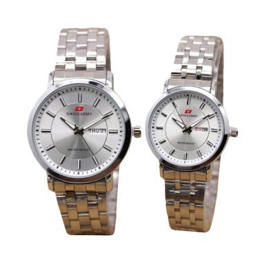 Swiss Army SA 0069 AD Jam Tangan Couple - Silver
