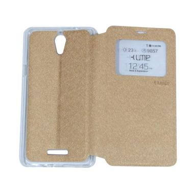 UME Flipshell Flip Cover Casing for Coolpad Sky 3 / E502 - Gold