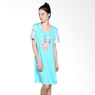 Felancy 078-NE2016 Casual Wear Sleepwear Baju Tidur - Blue