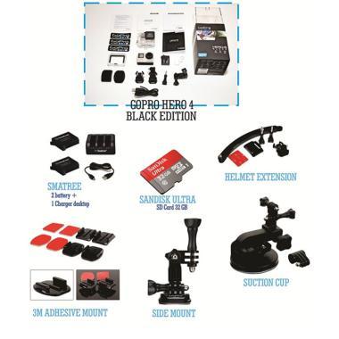GoPro Paket Motor Sport Hero 4 Action Camera - Black