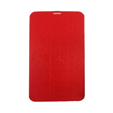 QCF Leather Flip Cover Casing for Lenovo Tab 2 A7-30 - Merah