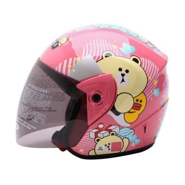 WTO Helmet Z1R KOP Cute Bear Helm Half Face - Pink