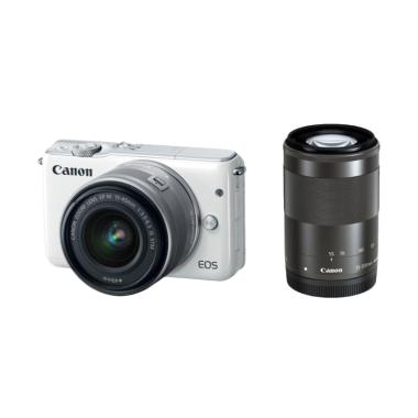 Canon EOS M3 WHITE DOUBLE Kit EF-M1 ... 6 GB +  S. GUARD + FILTER