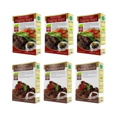 Laziz! Paket Rendang Daging Sapi [3 ... endang Ayam Suwir [3 pcs]