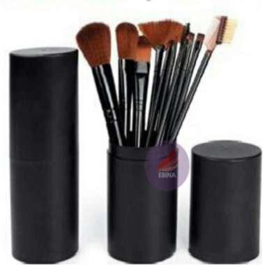 harga New Kuas MakeUp Set 12 pcs 12pcs Cosmetic Make Up Brush with Round Case Q1 Limited Blibli.com