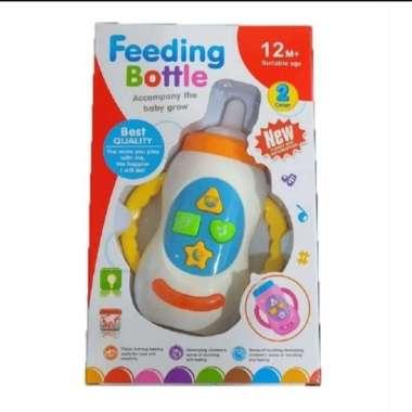 harga Mainan Botol Susu Bayi / Baby Toys / Bisa Bunyi jika Ditekan - Putih Blibli.com