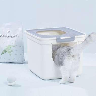harga FURRYTAIL Cat Litter Box Toilet Tutup Pet Kucing Potty Multicolor Blibli.com