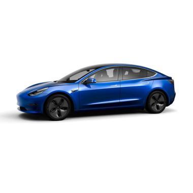 Tesla Model 3 Mobil [Off the road] Black and White Long Range Deep Blue Metallic