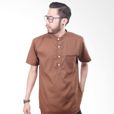 Elevant Premium Quality Baju Koko Pria - Brown