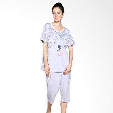 Felancy 078-PA2019 Asual Wear Sleepwear Baju Tidur - Grey