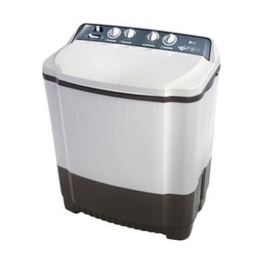 LG P850R Semi Auto Washer Twin Tub  ... ] Free Ongkir Jabodetabek