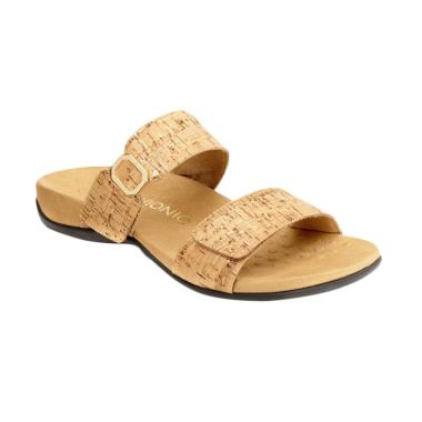 Vionic Camila Gold Cork Sandal Wanita