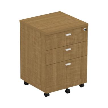 Prissilia Tigreal 3 Drawers Walnut Classic