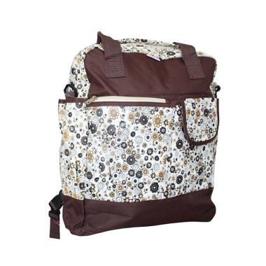 Baby Scots Platinum Mommy Bag 22 - Brown Flower