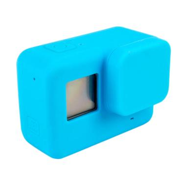 GoPro Hero 5 / Hero 6 Silicone Case with Lens Cap Cover - Biru
