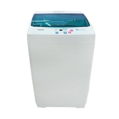 SHARP ESG865PG Mesin Cuci - Putih Hijau [Top Loading/6 kg]