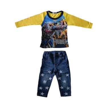 Lil Kids Transformers Baju Setelan Anak - Yellow
