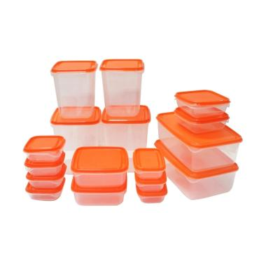 Ikea Pruta 17 Set in One Wadah Penyimpanan Makanan - Orange