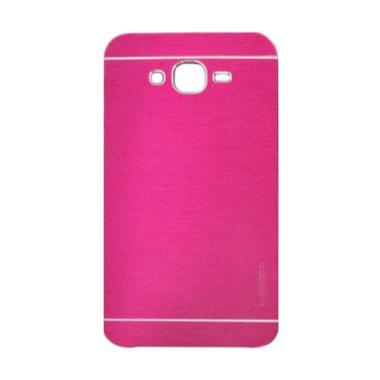 Motomo Metal Hardcase Casing for Samsung Galaxy E7 - Pink