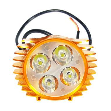 Lampu Sorot Motor Luxeon Slim - Gold [4 Mata]