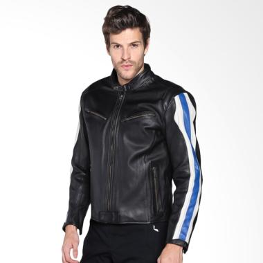 BMW Motorrad Club Roadster In Leather for Men Jaket Motor - Black