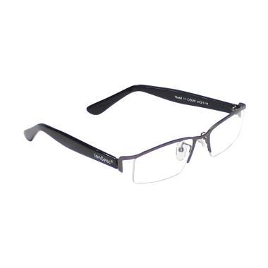 Akrilik IonSpec Titanium Kacamata Kesehatan - Hitam