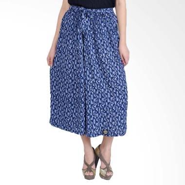 Jfashion Corak Batik Tannia Rok Celana Wanita - Biru