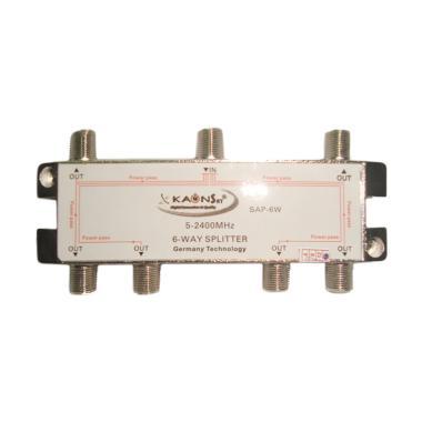 Kaonsat KSAP-6W 5-2400 MHZ Splitter 6 Way for TV Kabel