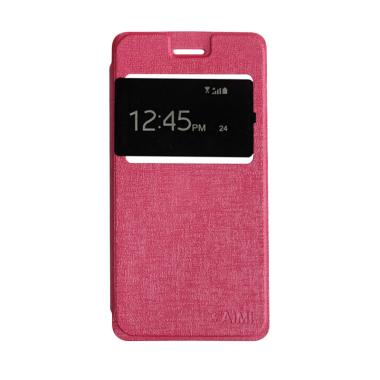 Aimi Flip Cover Flipshell Casing for Vivo Y22 - Pink