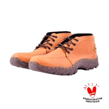 Azcost Sepatu Boots Kulit Azcost Jakuali - Tan