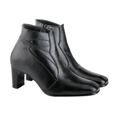 Azzurra 548-03 Sepatu Fashion Wanita - Hitam Kulit