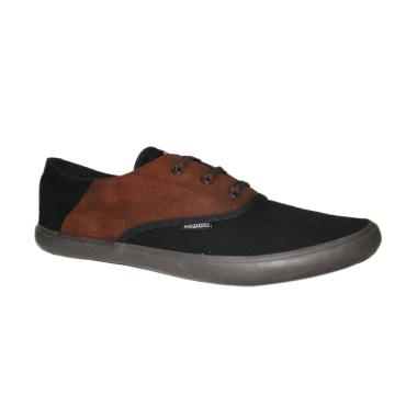 Kappa Suede Shoes Sepatu Sneakers - Black Brown K13CFL053A