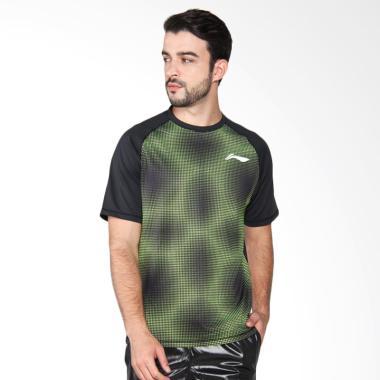 Li-Ning RN Tee Kaos Badminton Pria - Army Green ATSL439-1