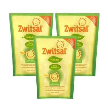 Zwitsal Natural Baby Shampoo Pouch - [450 mL/3 Pcs] 21152893