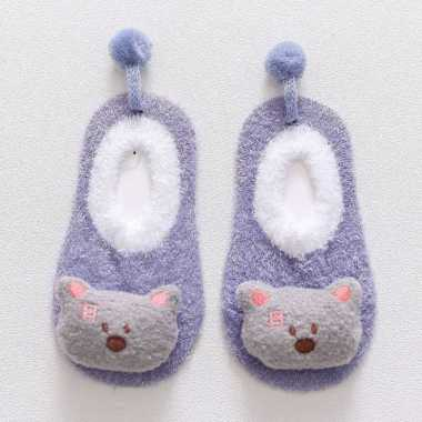 harga OEM RB-P15 Sepatu Prewalker Kaos Kaki Korea Anak Bayi Kaus Kaki Bulu Lembut Motif Animal Baby Socks 04 ABU BERUANG S Blibli.com