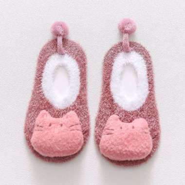 harga OEM RB-P15 Sepatu Prewalker Kaos Kaki Korea Anak Bayi Kaus Kaki Bulu Lembut Motif Animal Baby Socks 06 PINK KUCING S Blibli.com