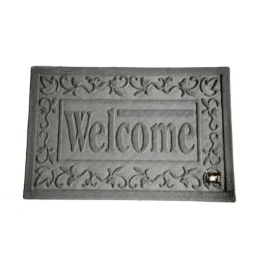 Dixon Motif Welcome Big Keset Outdoor - Abu-abu [40 x 60 cm]