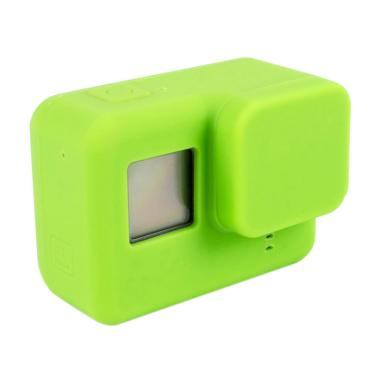 GoPro Hero 5 / Hero 6 Silicone Case with Lens Cap Cover - Hijau