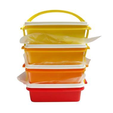 Tupperware Goody Box Kotak Makan - Yellow